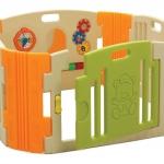 รั้วกั้นเด็ก คอกเด็ก สีส้มเขียว BR-7317PG